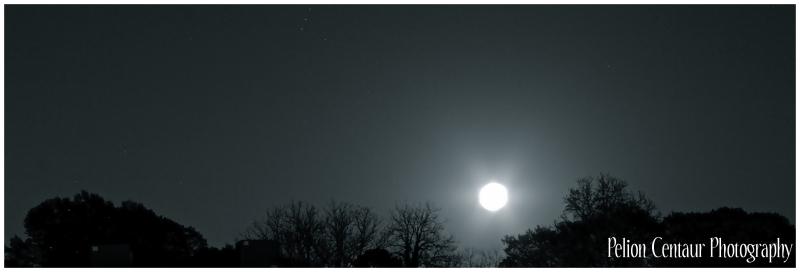 Super moon over Atlanta