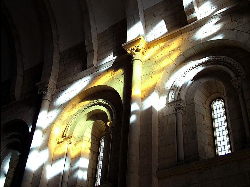 In the Portomarin church