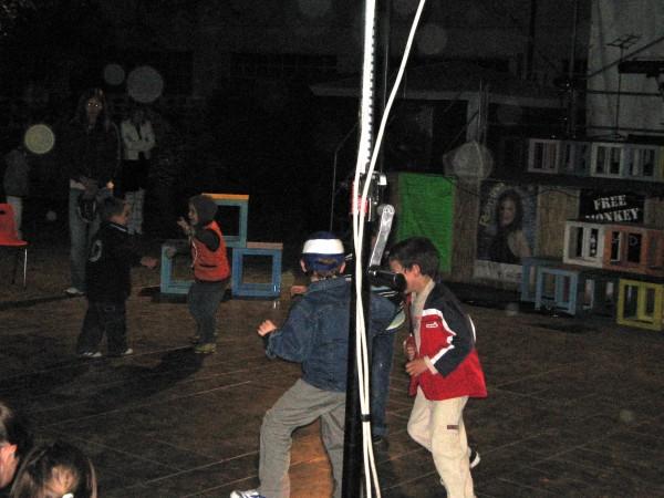 Boys dancing at concert