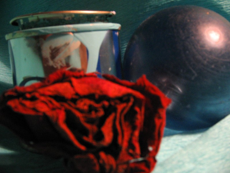 contrast in blue and faded rose