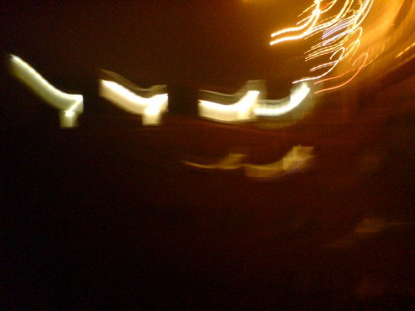 I tried to capture one set of moving lights..