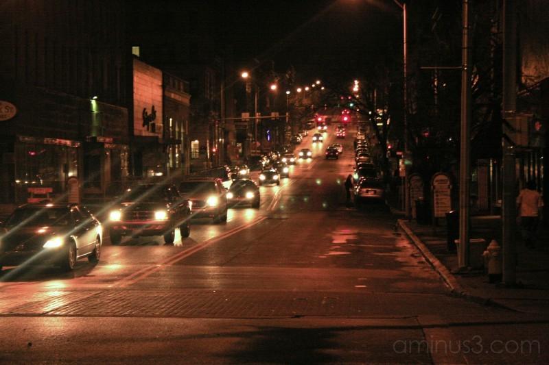 Facing east on Northampton street