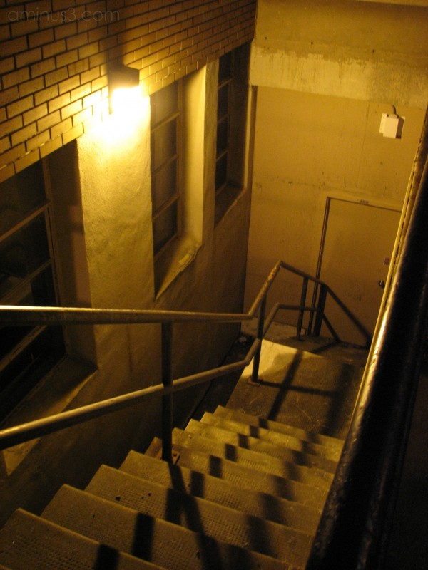 Stairs shooted at night in Sherbrooke