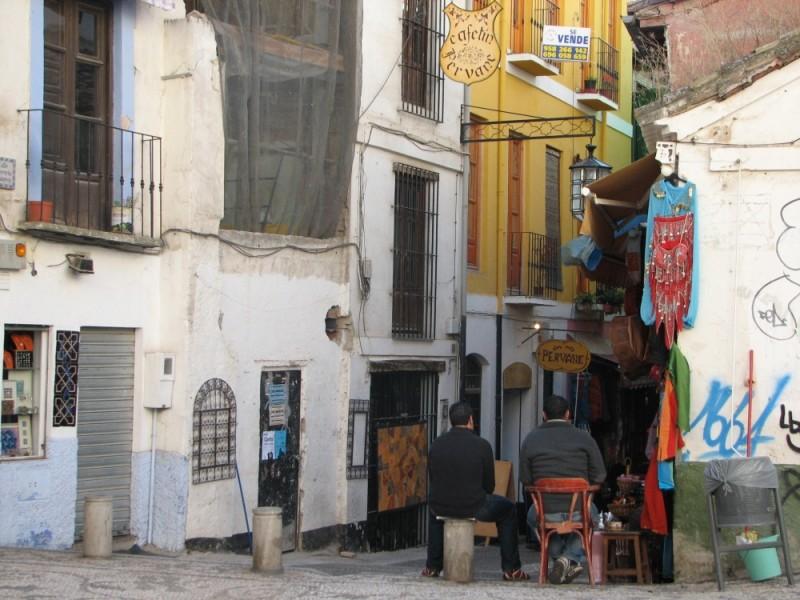 a market street in granada