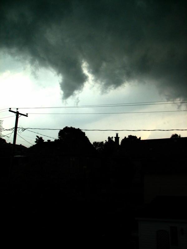 ciel d'orage au-dessus de québec