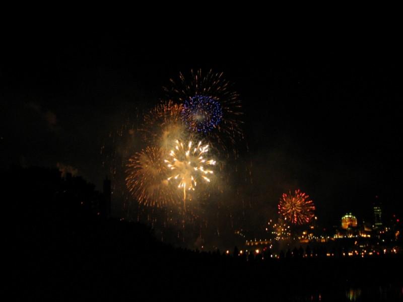 feux pour les 400 ans de la ville de québec