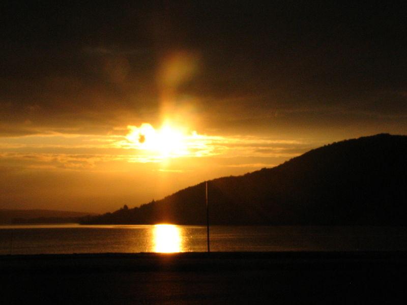 sunset on gaspe