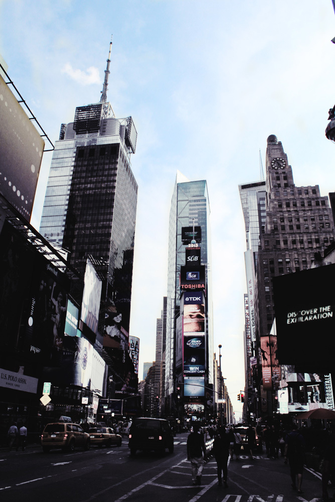 time square by day