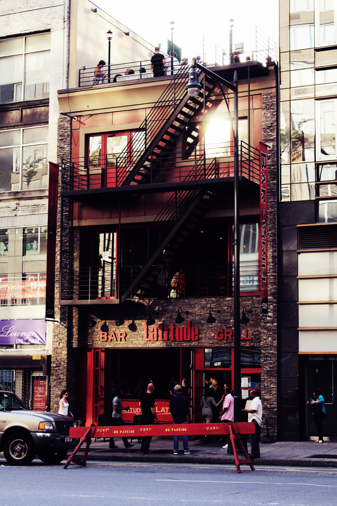 red little building in NYC