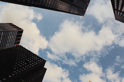 sky and buildings in NYC