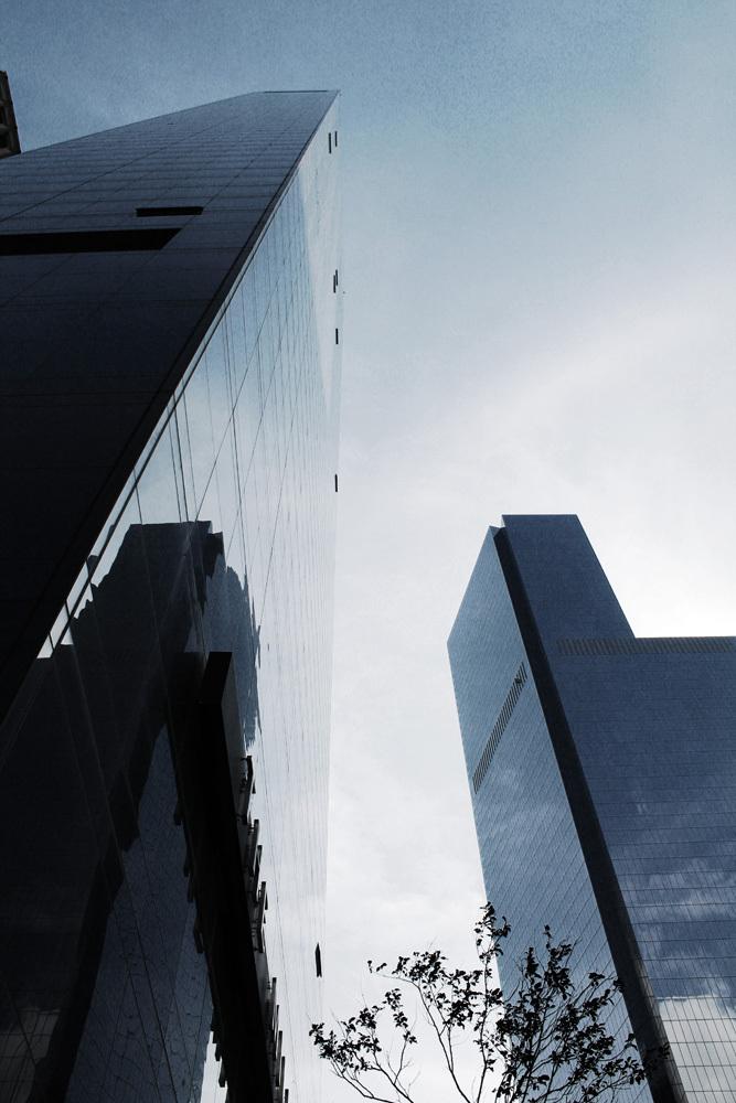 glass skyscraper, NYC