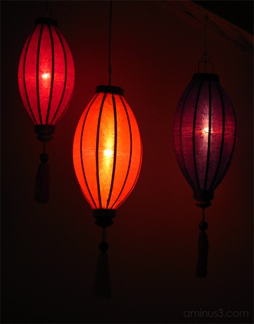 Vietnamese rice lamps
