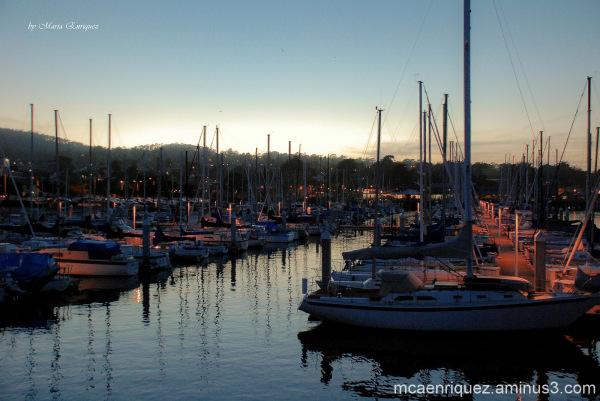 dusk, boats, monterey, fisherman's wharf