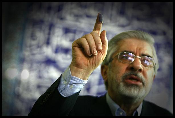 Presidential candidate Mirhossein Mousavi