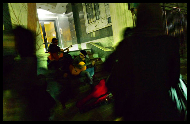 Tehran at night - street musicians