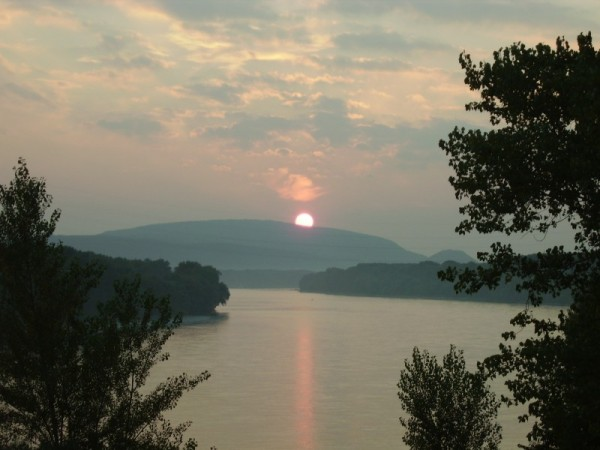 Sunset over Danube