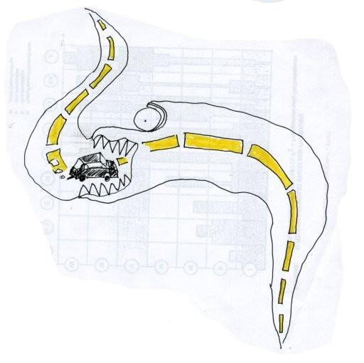 Straßenschlange