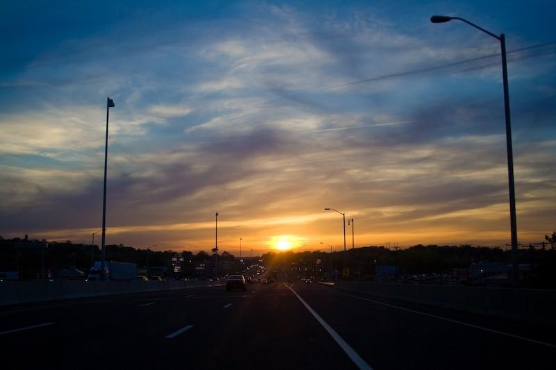 Sunset on 95
