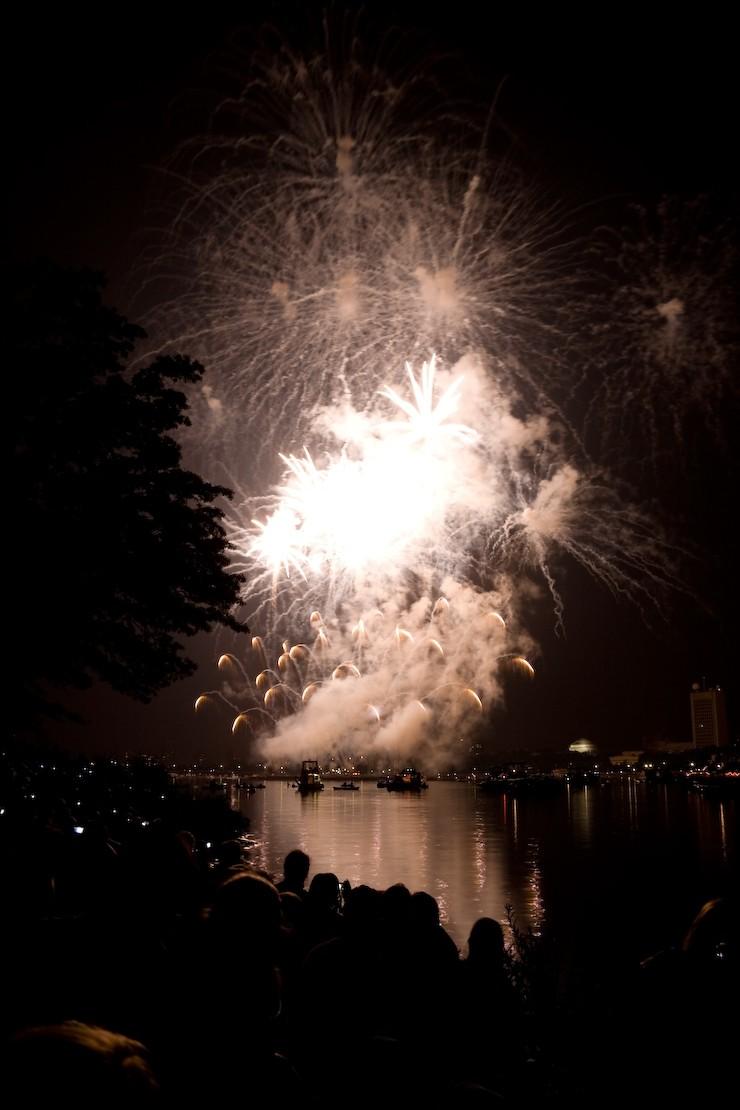 Fireworks over the Charles River I, Boston