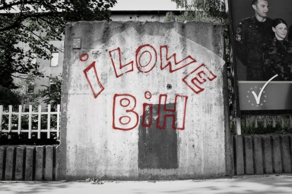 Graffiti in Bosnia