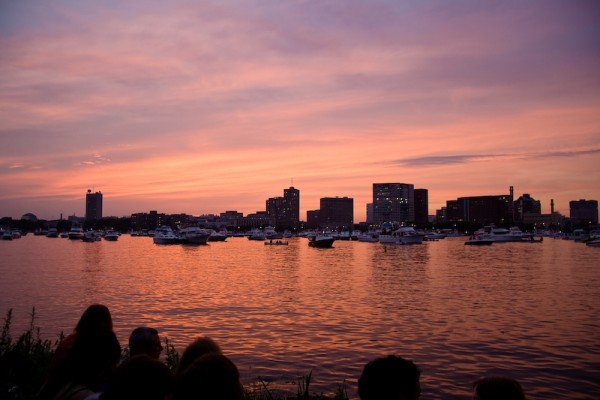 Sunset on the Charles River, Boston