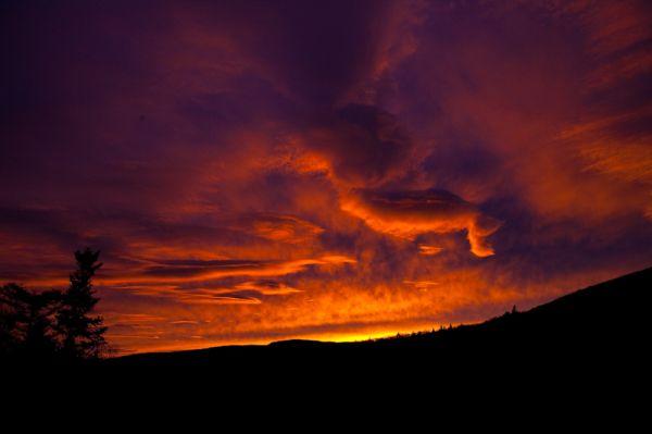 Sunset at Moosilauke Ravine Lodge