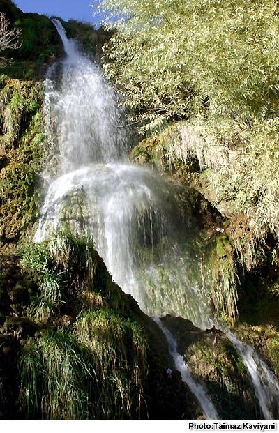 Waterfall, Niyasar village, Kashan province