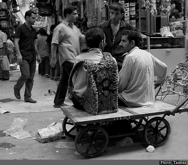 porters in Bazar, Iran, Tehran