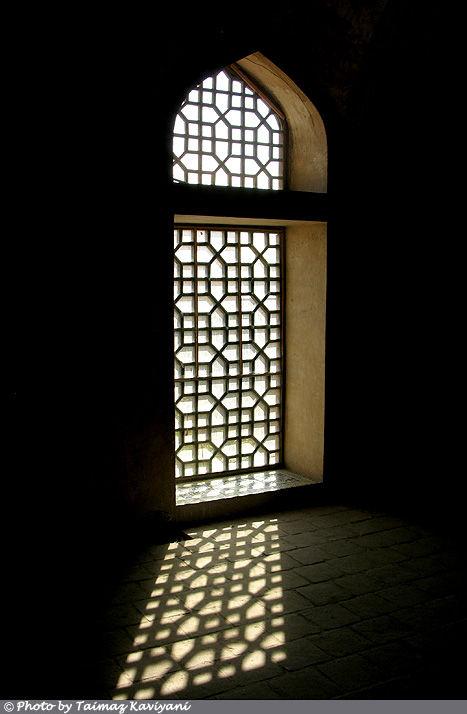 A window in the Ali Qapu, Isfahan - Iran