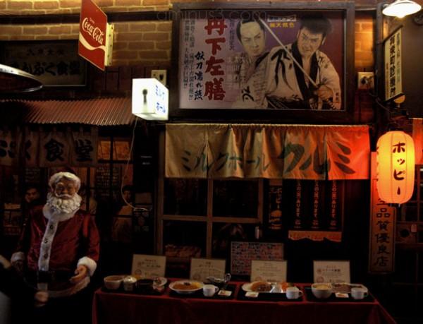 tokyo santa samurai reataurant urban night