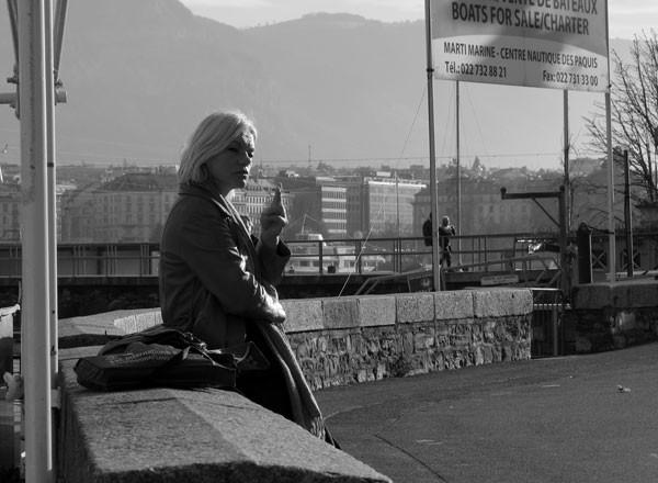 woman geneva smoke cigarette