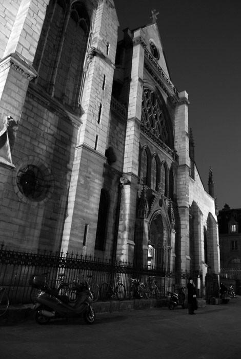 church saint severin paris night