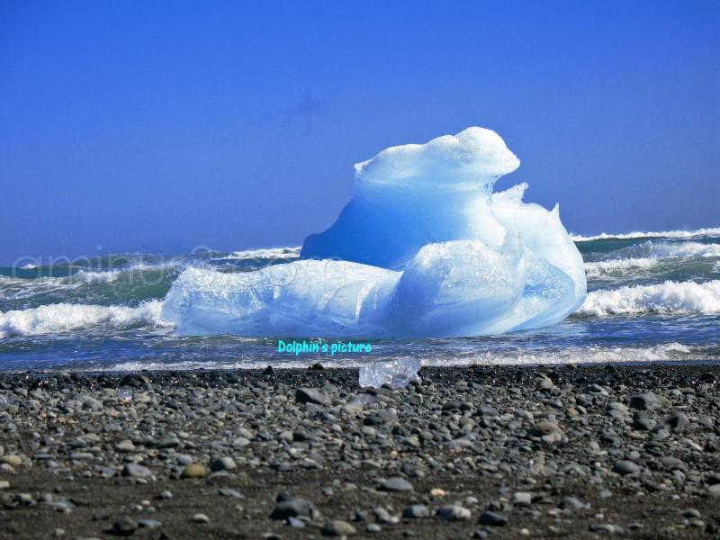 An iceberg on the sea