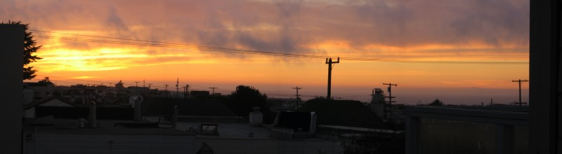 sunset from my kitchen