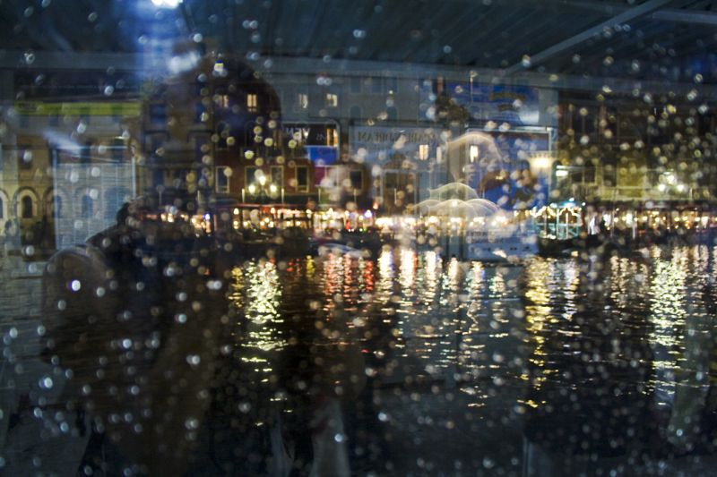 Venice rain_veporetti_reflection
