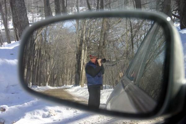 Randy Billmeier takes a picture