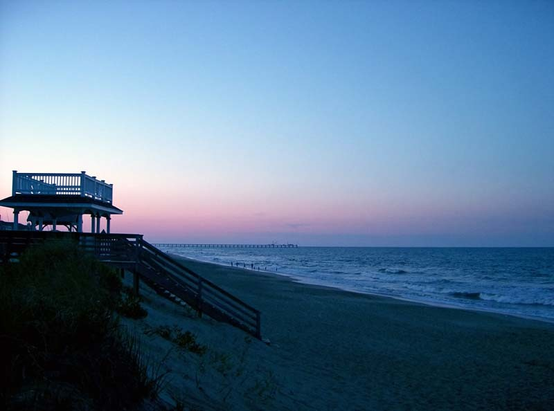 13th St. beach, Southern Shores, NC at dusk