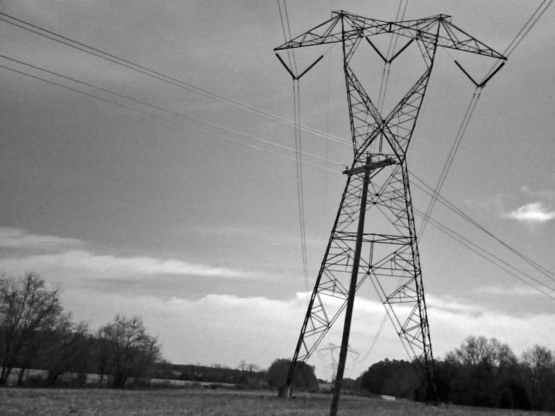 High-tension wires