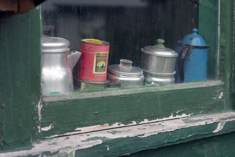 Cans in the window