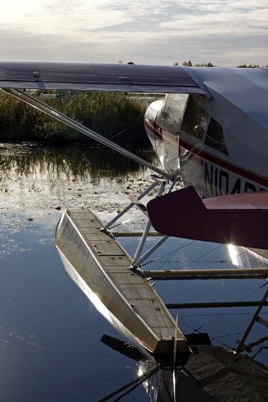 Parked floatplane