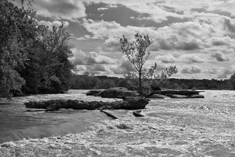 James River in B&W
