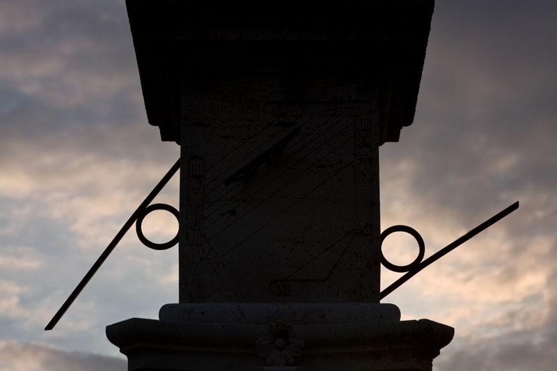 Sundials in silhouette