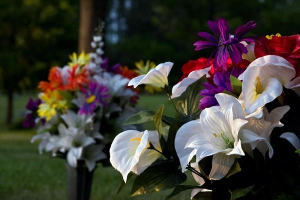 Graveyard flowers