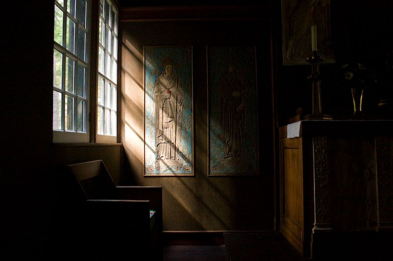 Sunlight in the chapel