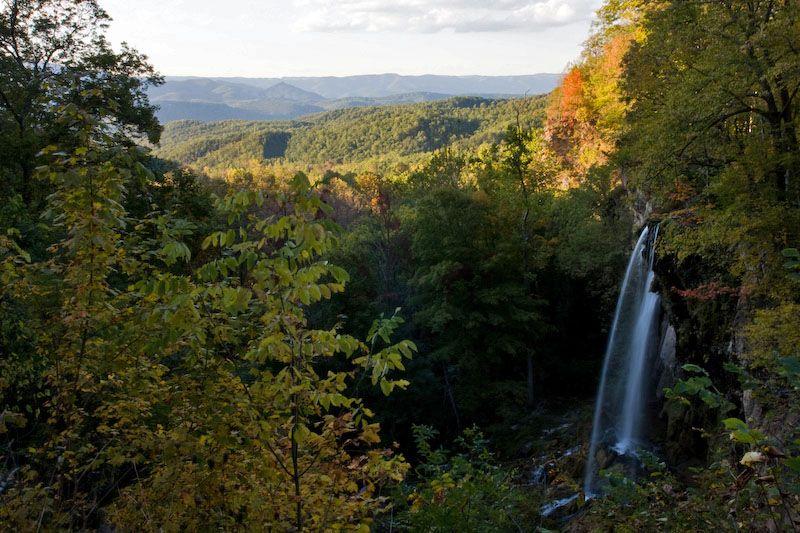 Waterfall and Blue Ridge