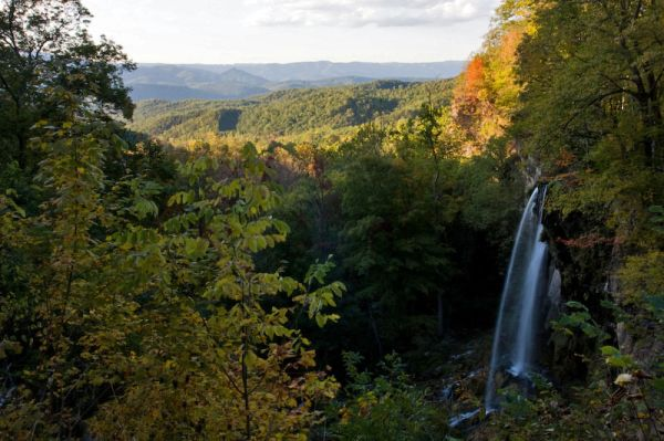 Waterfall and Blue Ridge