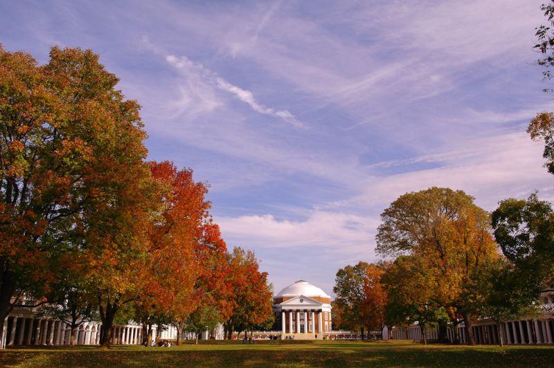 UVA Rotunda, Fall