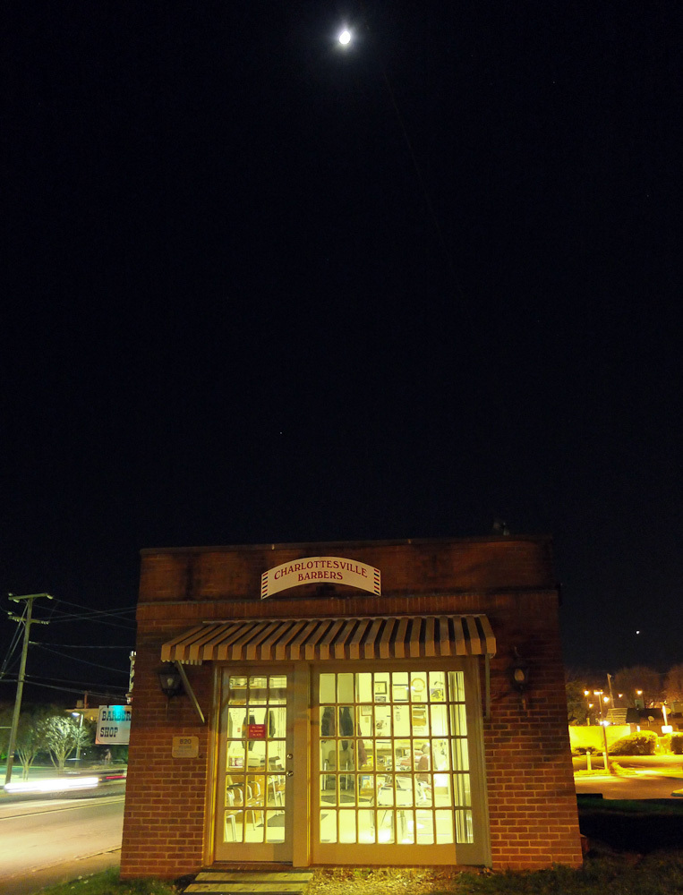 Moon over barber shop