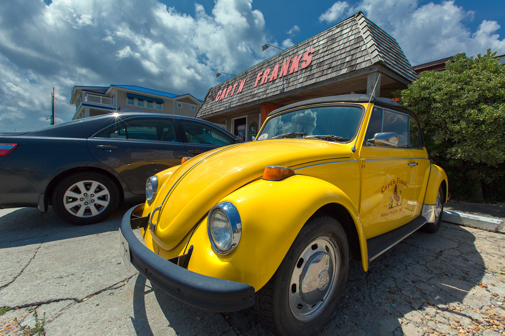 Capt'n Franks punch buggy yellow