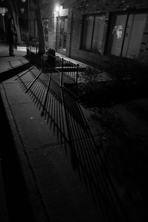 Iron fence shadow